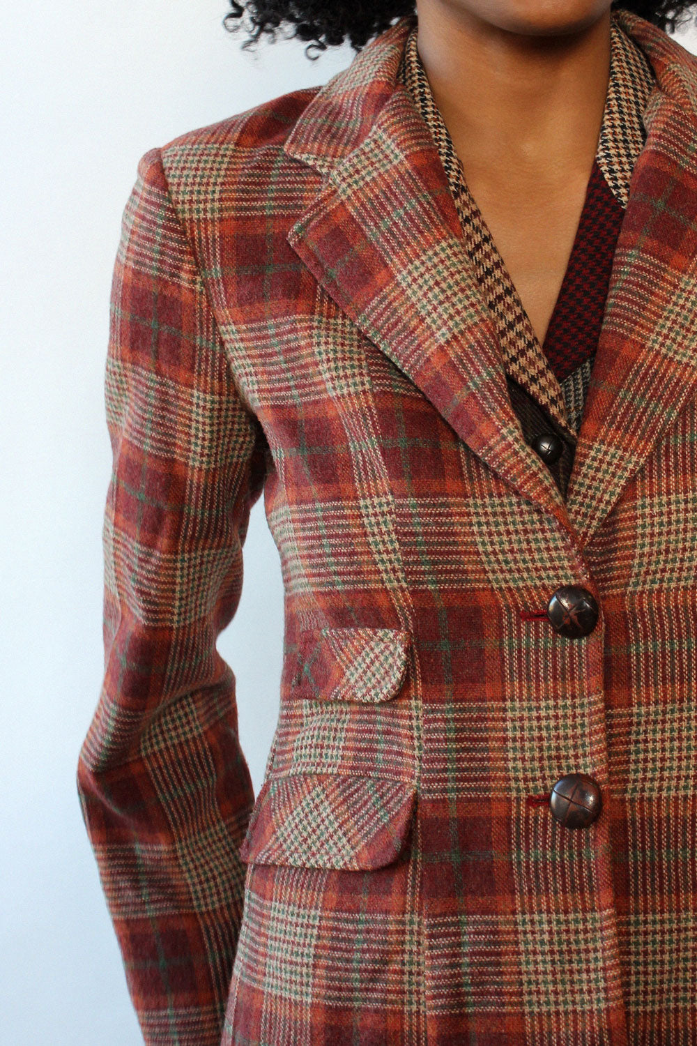 Lou Berry Plaid Blazer S/M