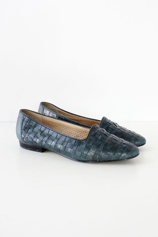 Teal Woven Slippers 7