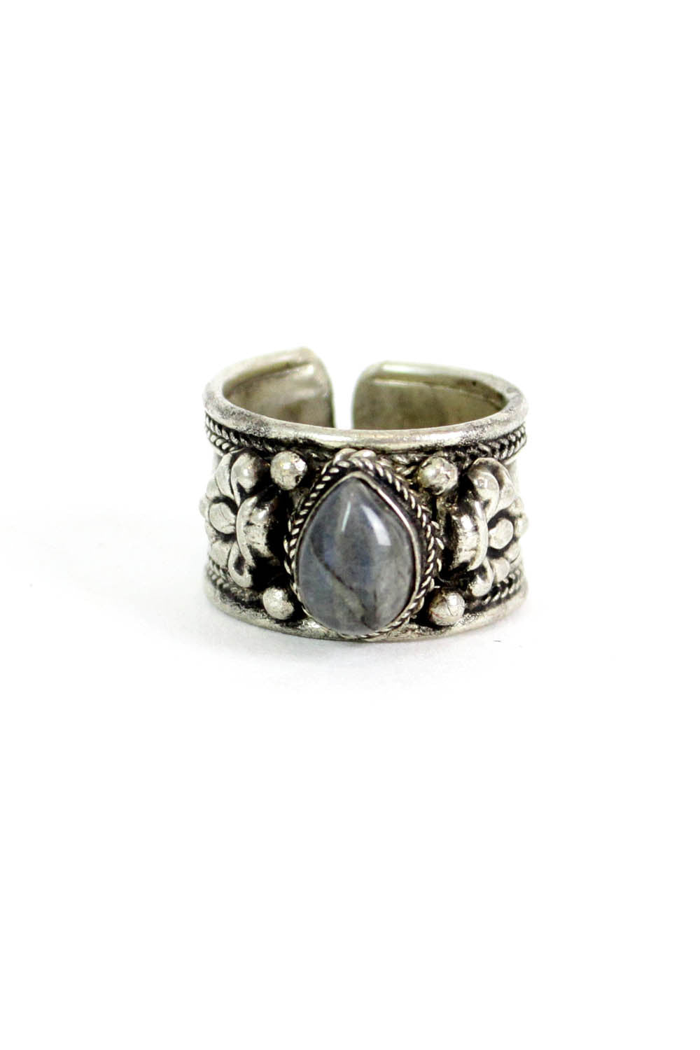 gemstone tribal ring