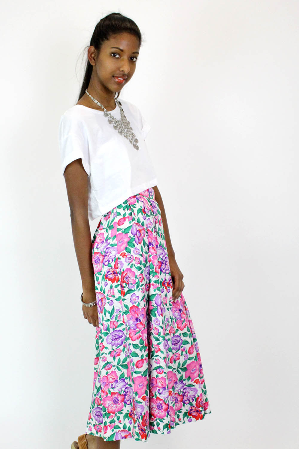 Sale / Blooming Midi Skirt S