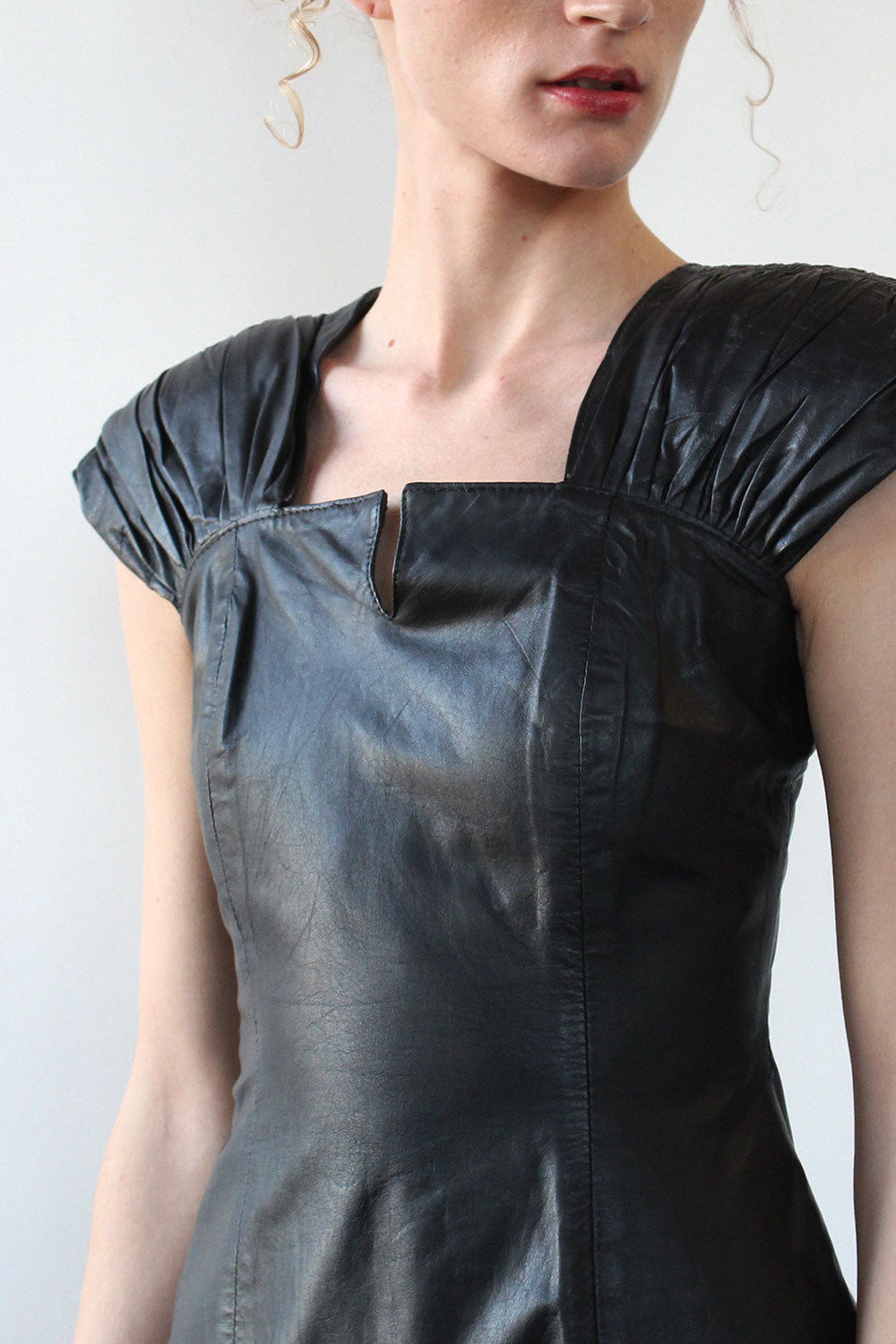 Haute Black Leather Dress S