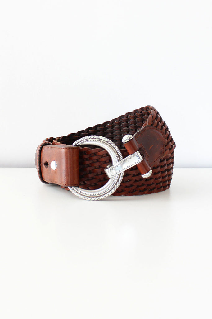 Crescent Braided Leather Belt