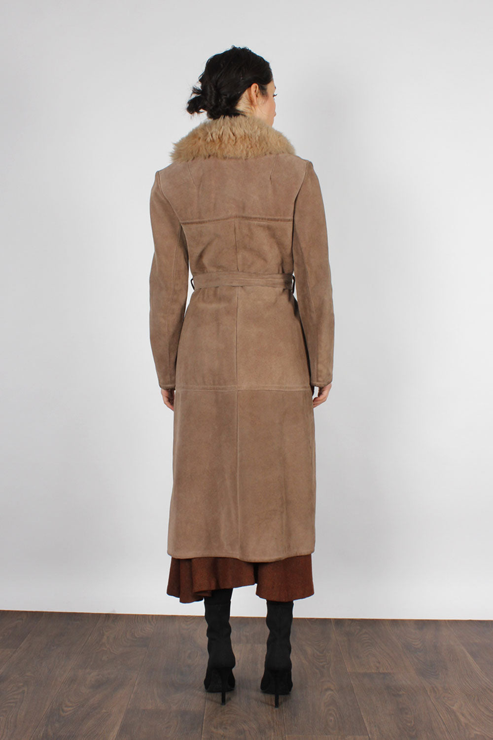 Abercrombie Shearling Suede Coat XS/S
