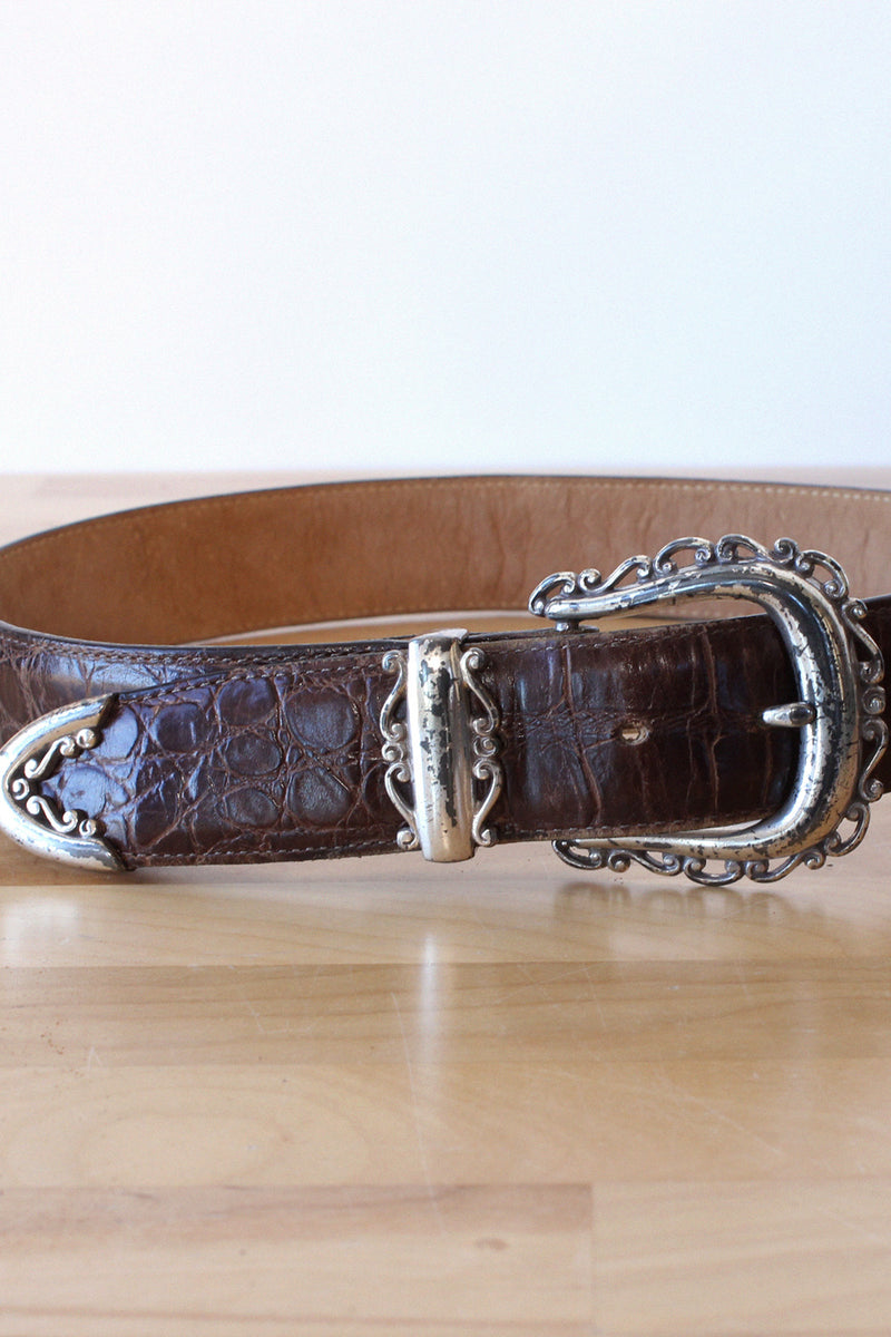 Rococo Leather Belt