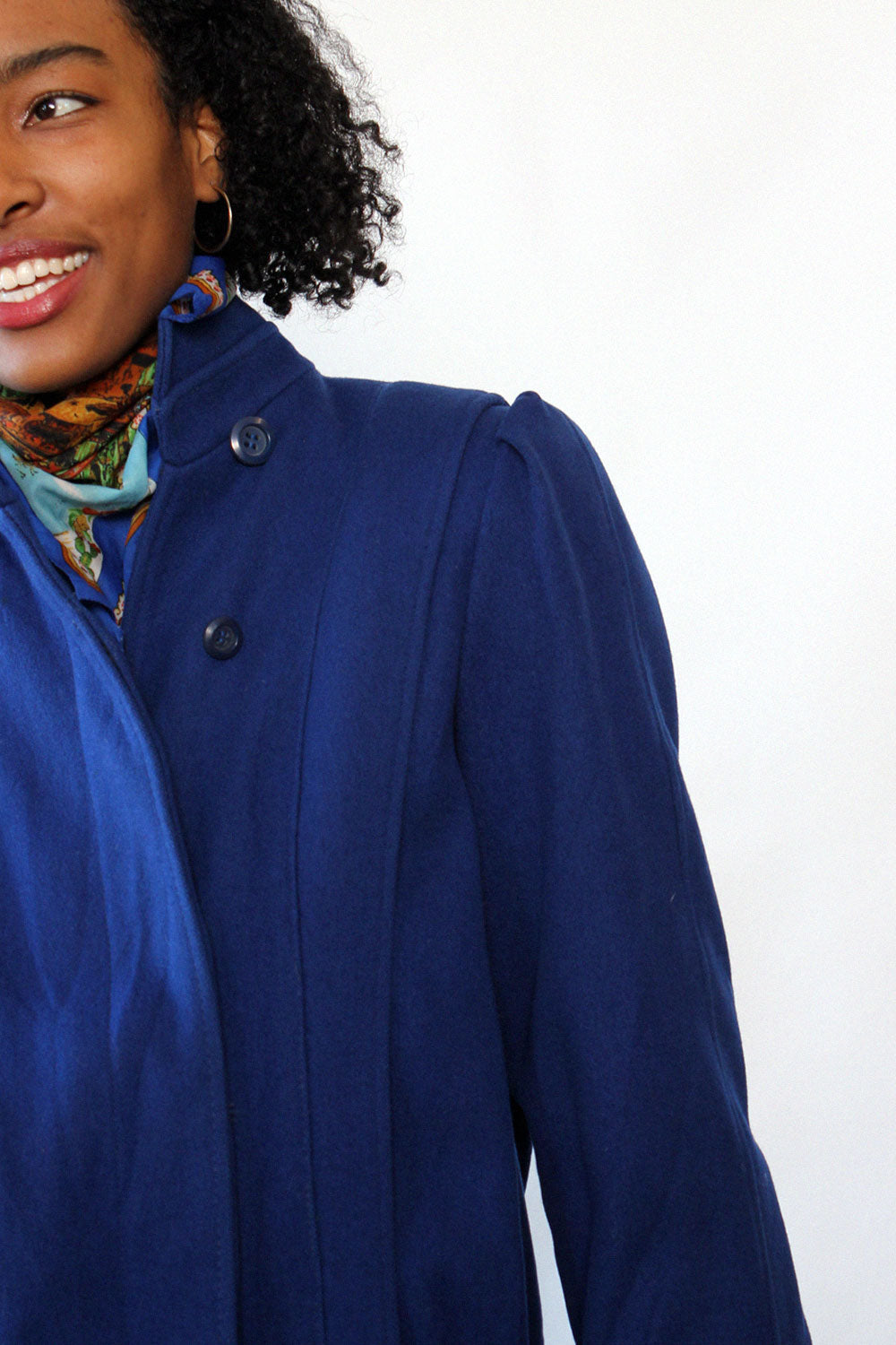 Electric Indigo Linear Coat S
