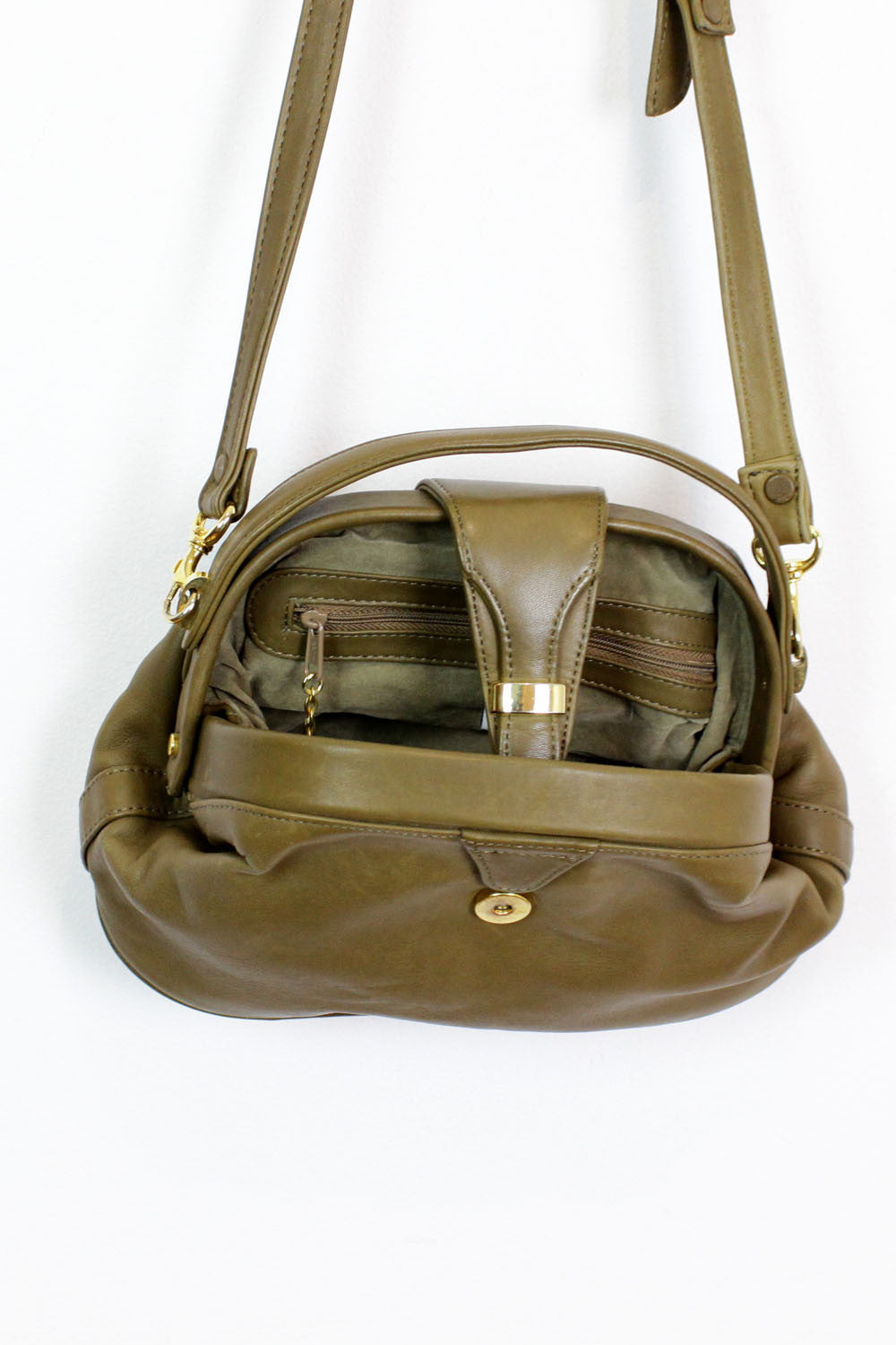 Brie olive satchel