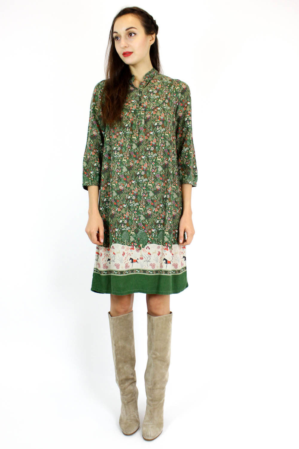 A.P.C. primitive print smock dress S