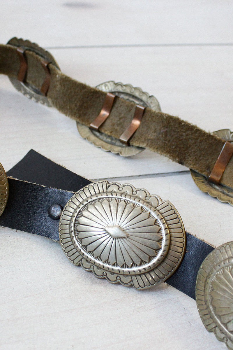 Aged Metal Conch Belt
