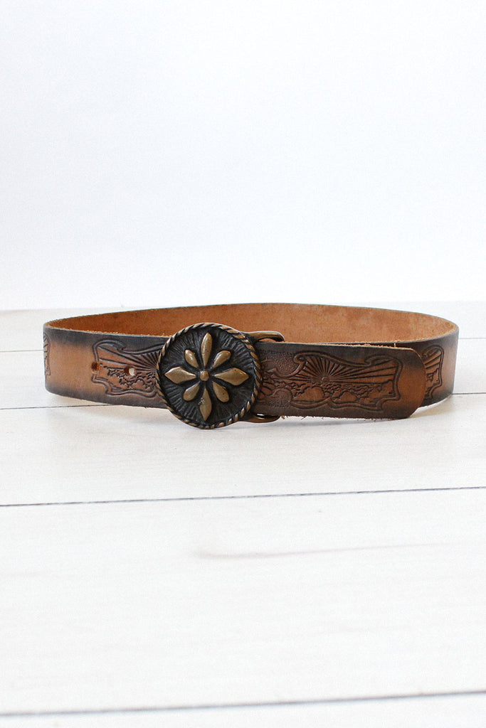 Birth of Venus Tooled Leather Belt