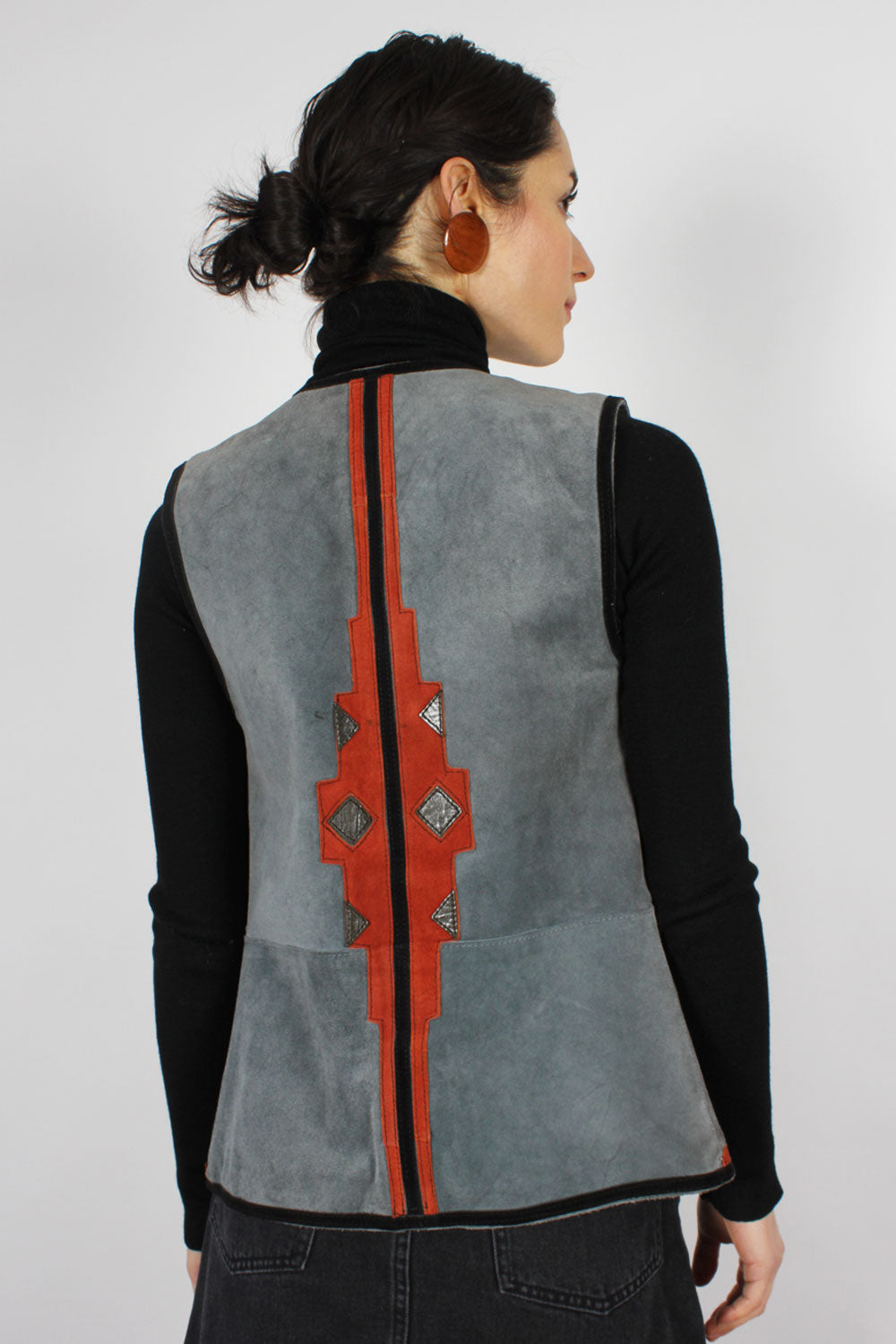 Suede Appliqué Fitted Vest XS/S