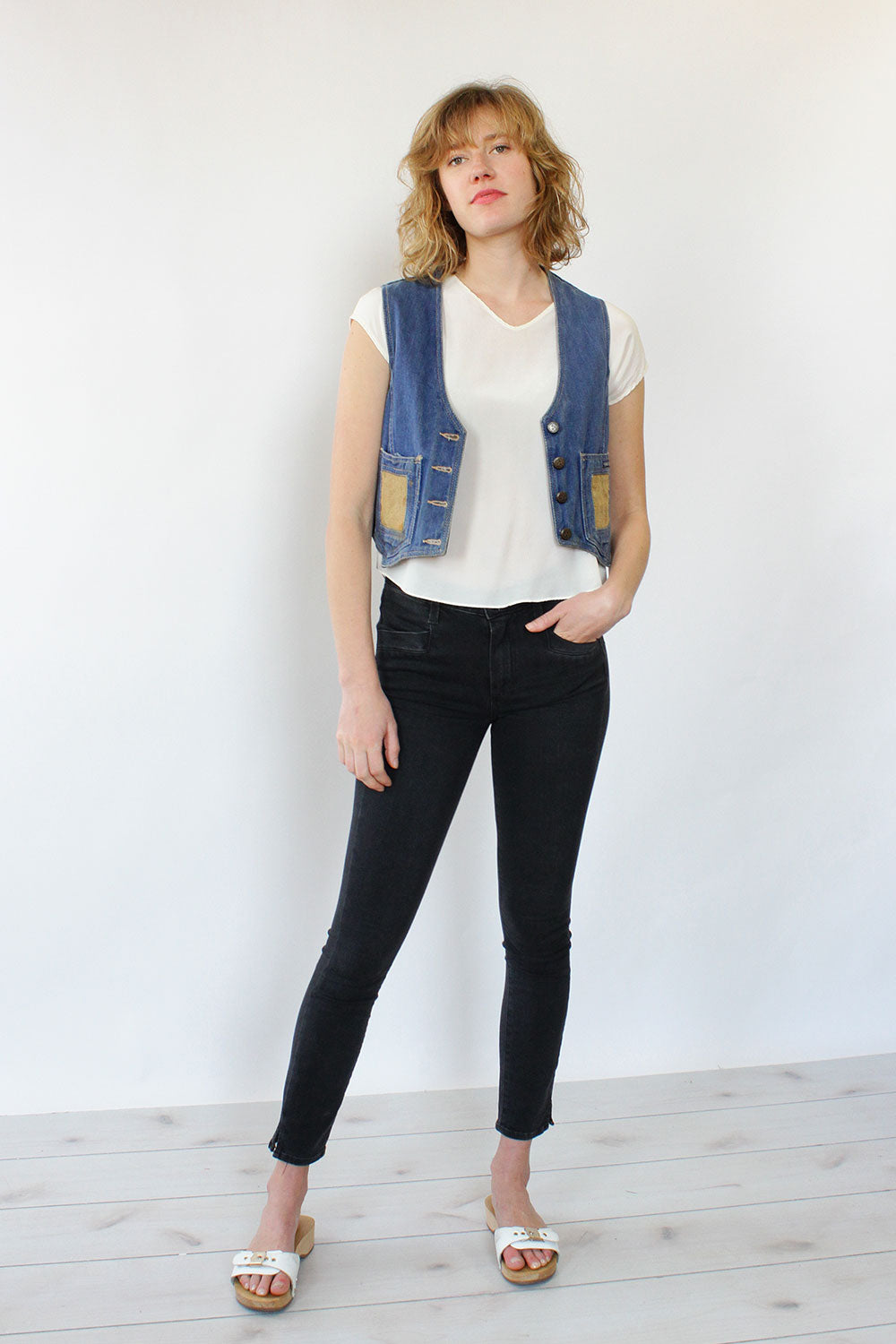 Empire Denim Vest S/M