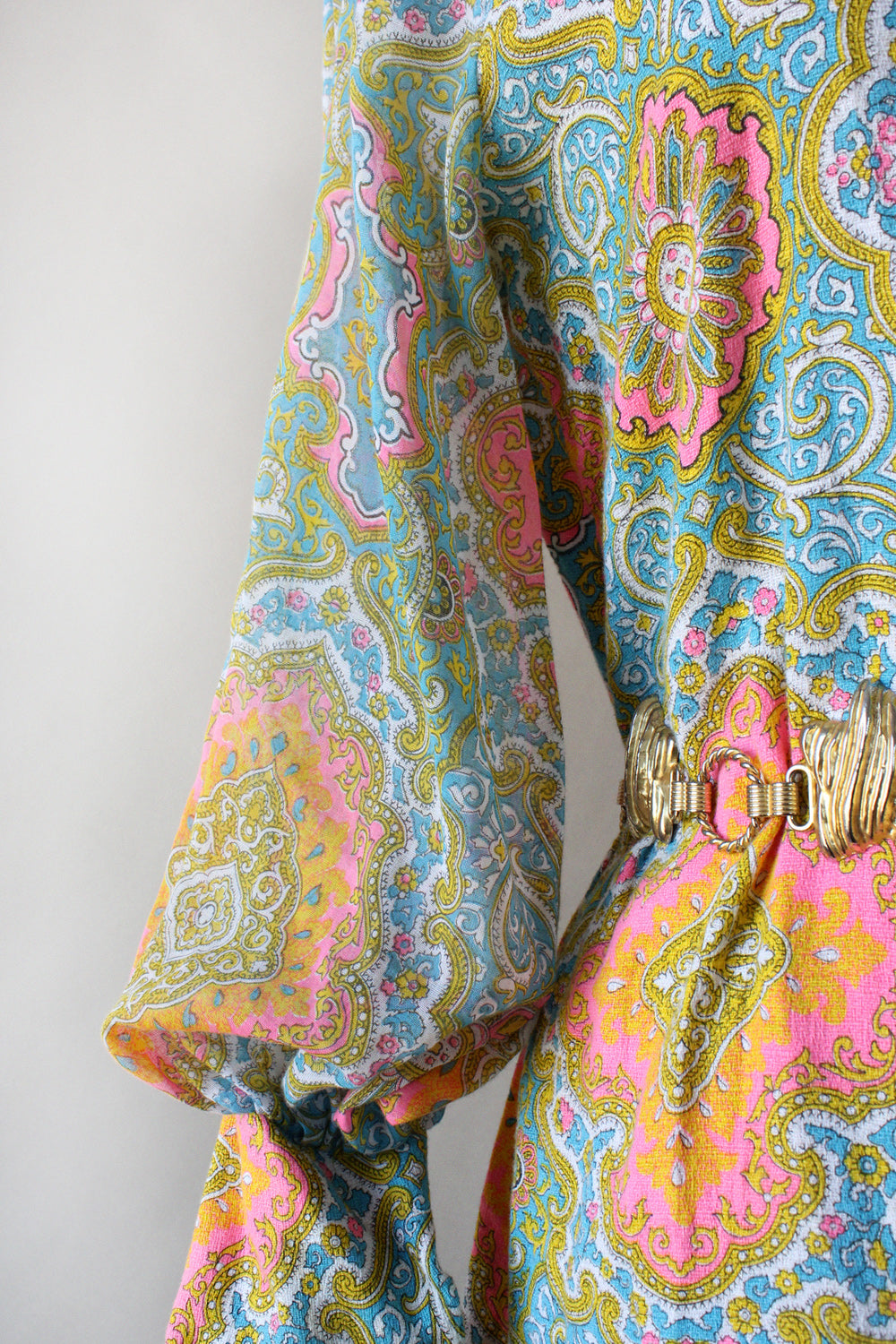 Neon Paisley Shirtdress M
