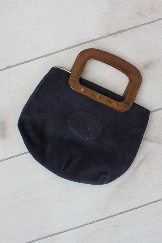 Midnight Suede Mini Handbag
