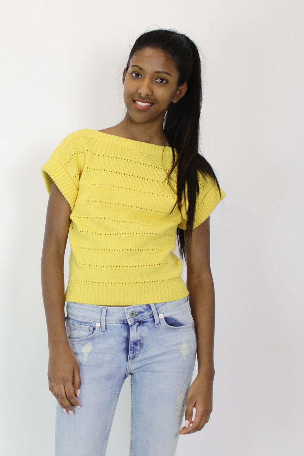 Daffodil Boatneck Sweater S/M
