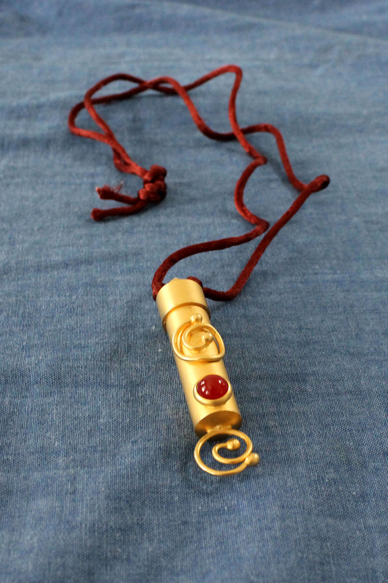 Swirly Ruby Poison Necklace