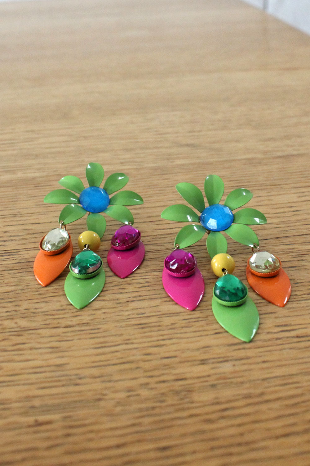 Flower Power Gem Earrings