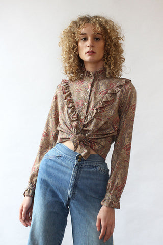 Grecian Embroidered Peasant Blouse S-L