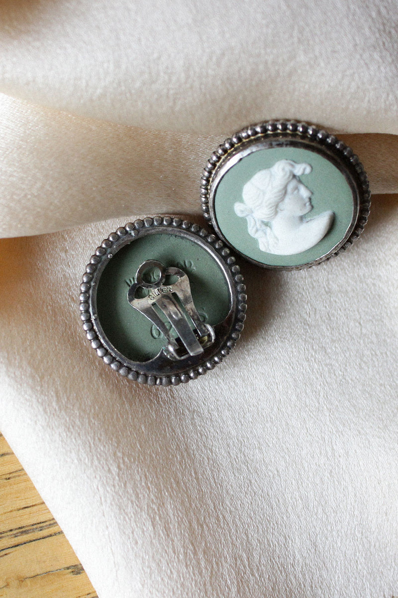 Wedgewood Cameo Clip-ons