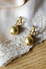 Klein Golden Ball Earrings