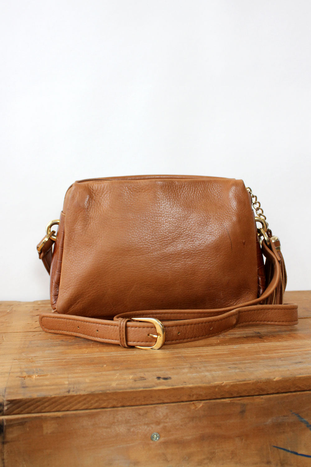 Supple Sepia Leather Crossbody