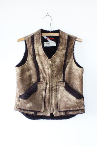 Fitted Faux Shearling Vest S