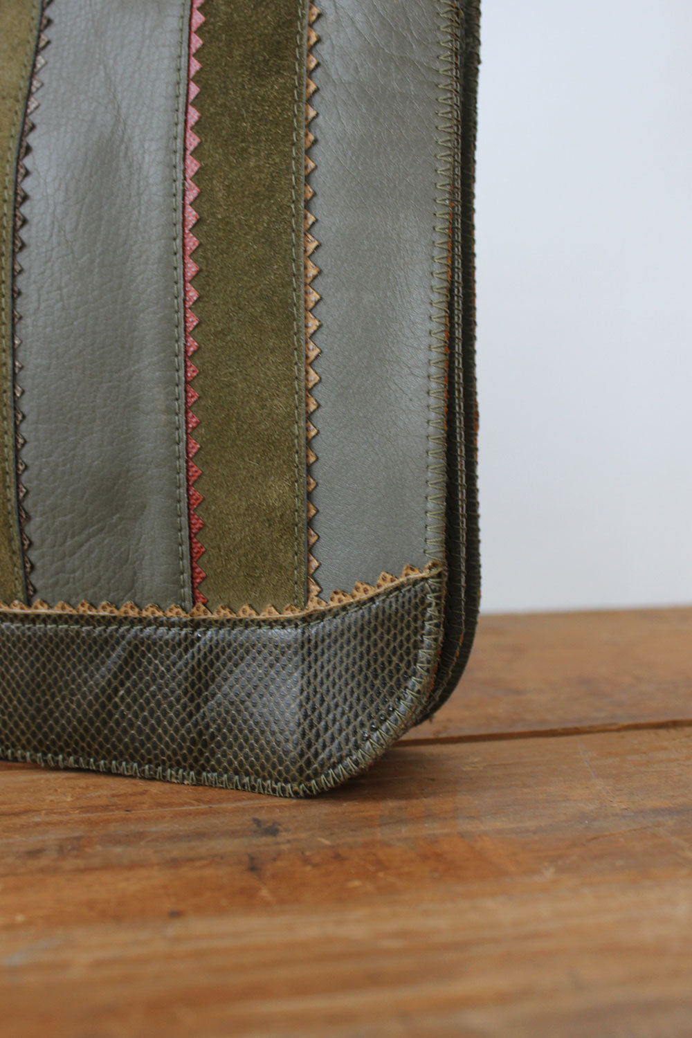 Olive Textural Clutch