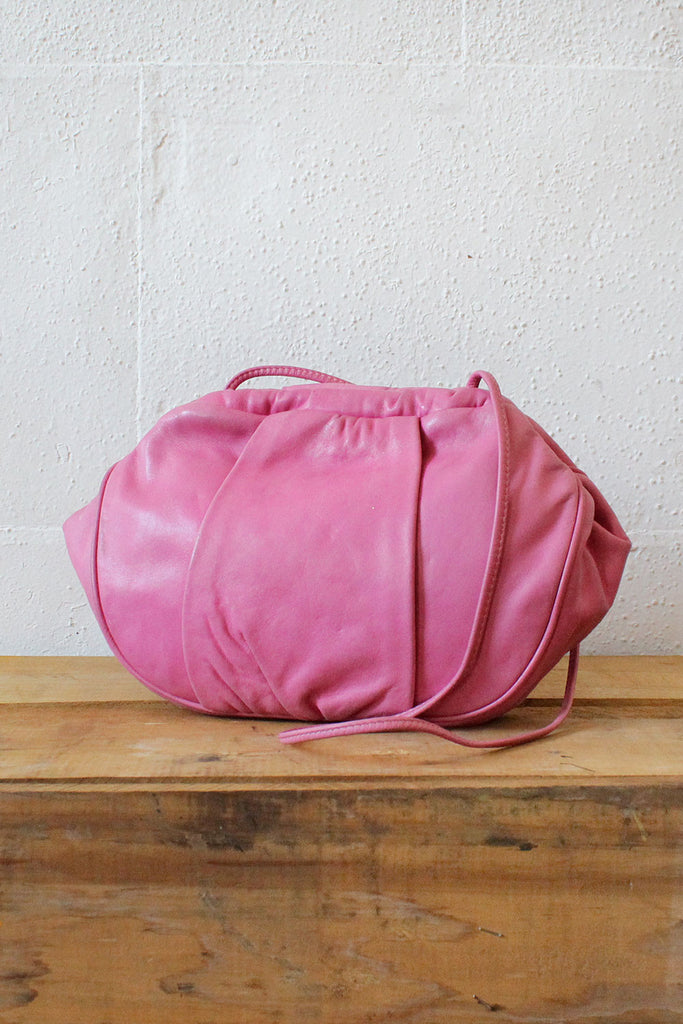 Bubblegum Pink Leather Bag