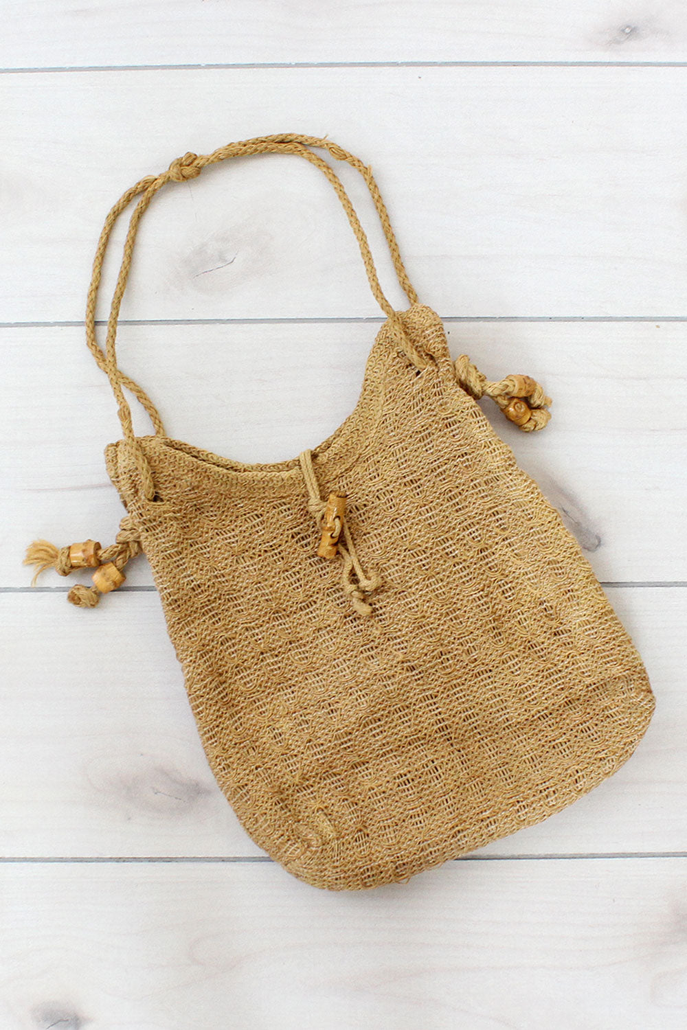 Burlap Slouchy Shoulder Bag