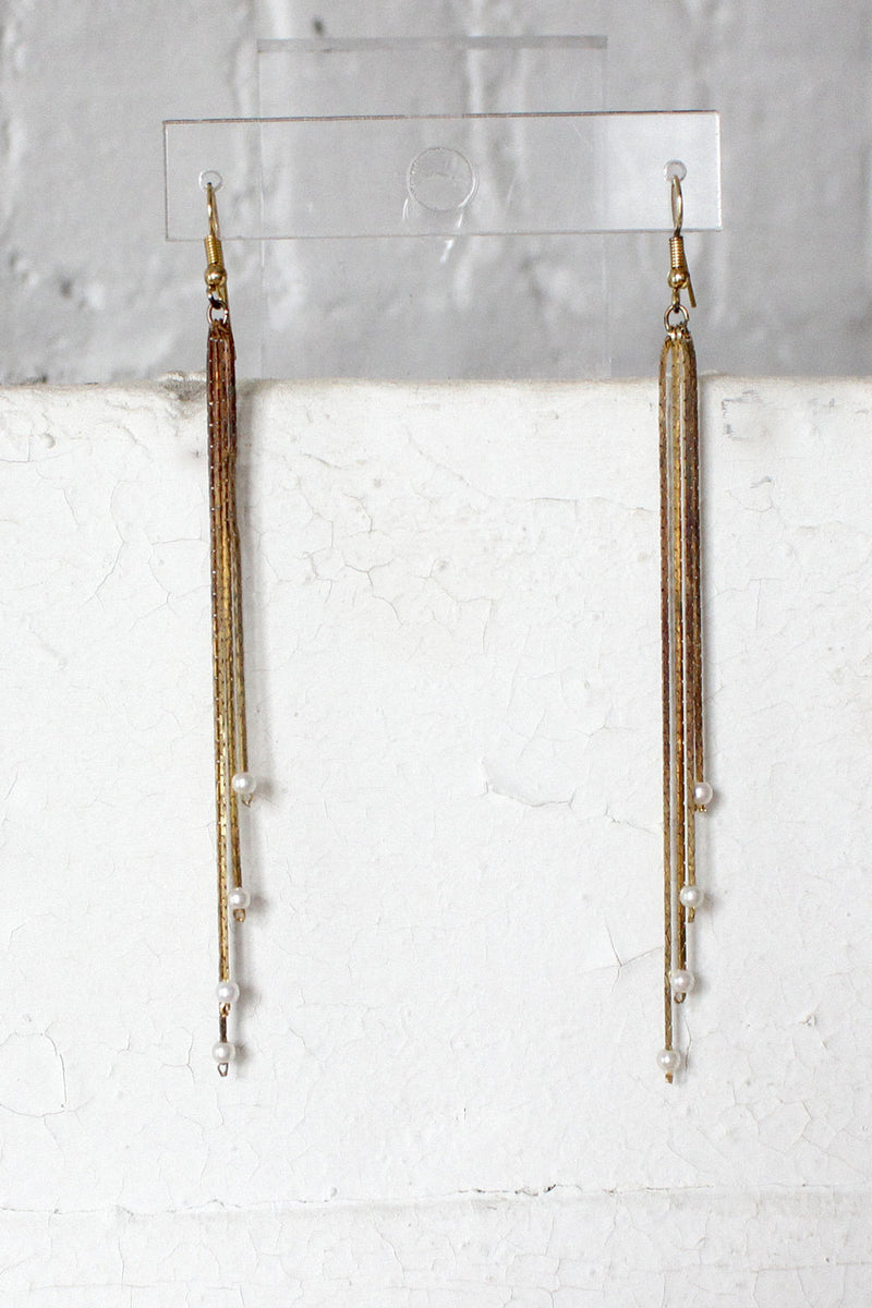 Golden Fringe Earrings