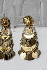Grecian Coin Chandelier Earrings