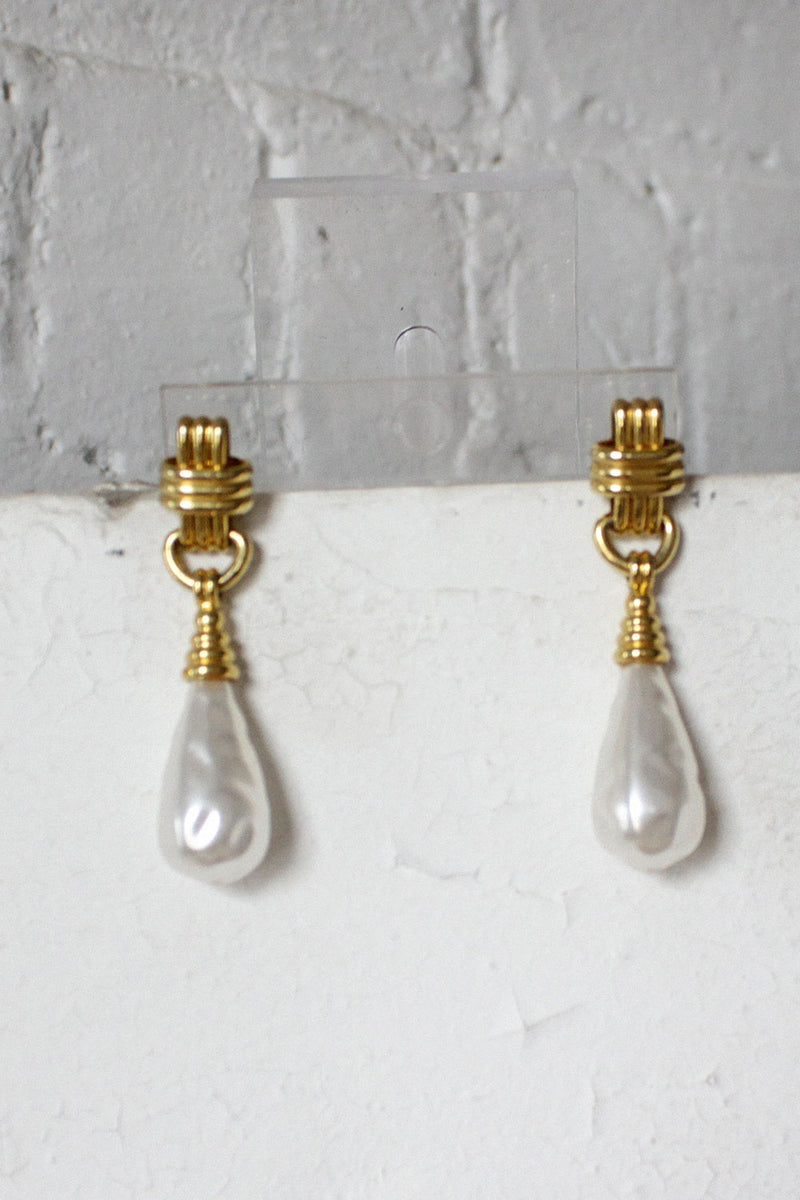 Pearly Drop Earrings