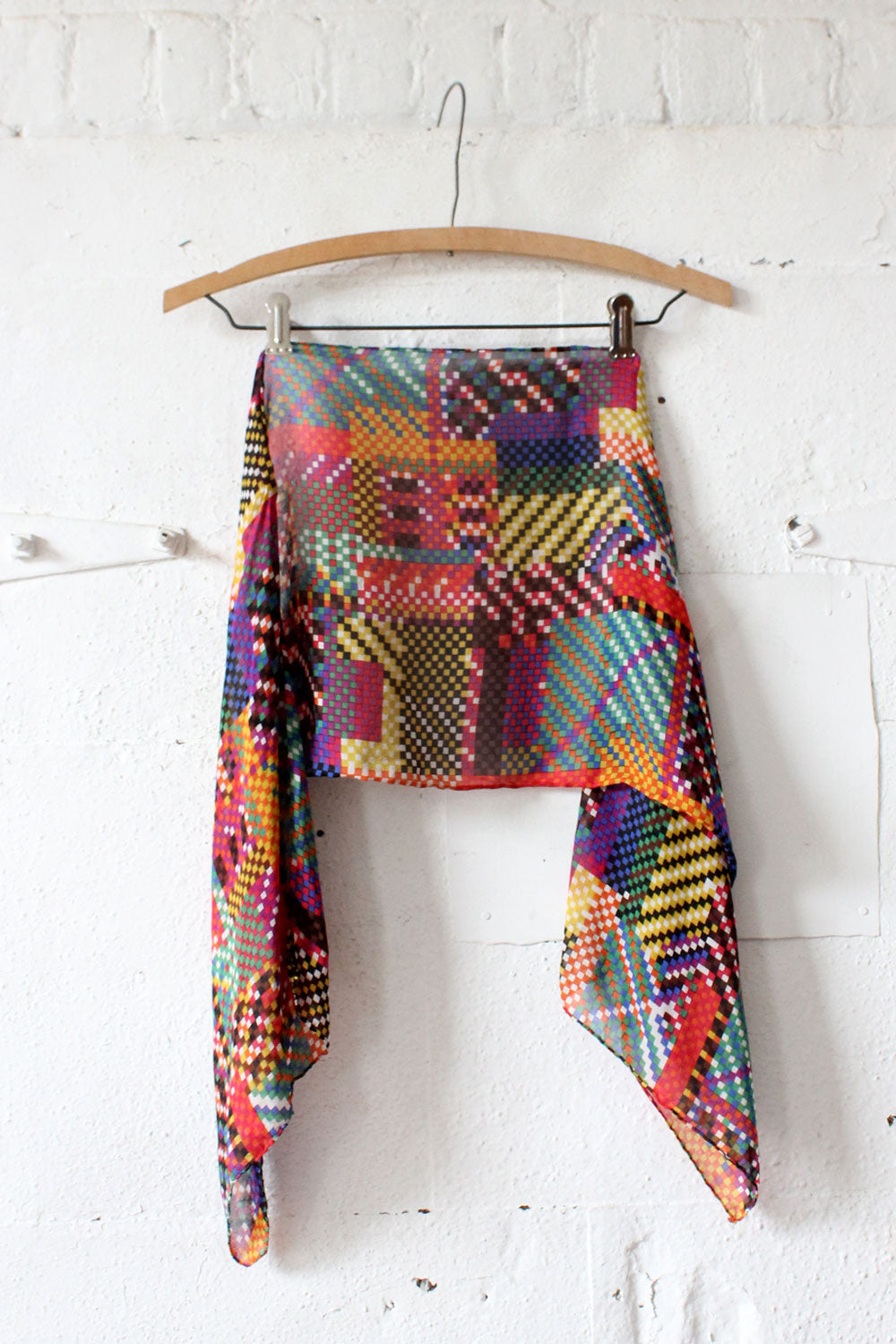 Pixelated Sheer Scarf