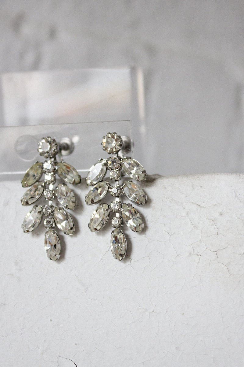 Sparkling Leafy Earrings