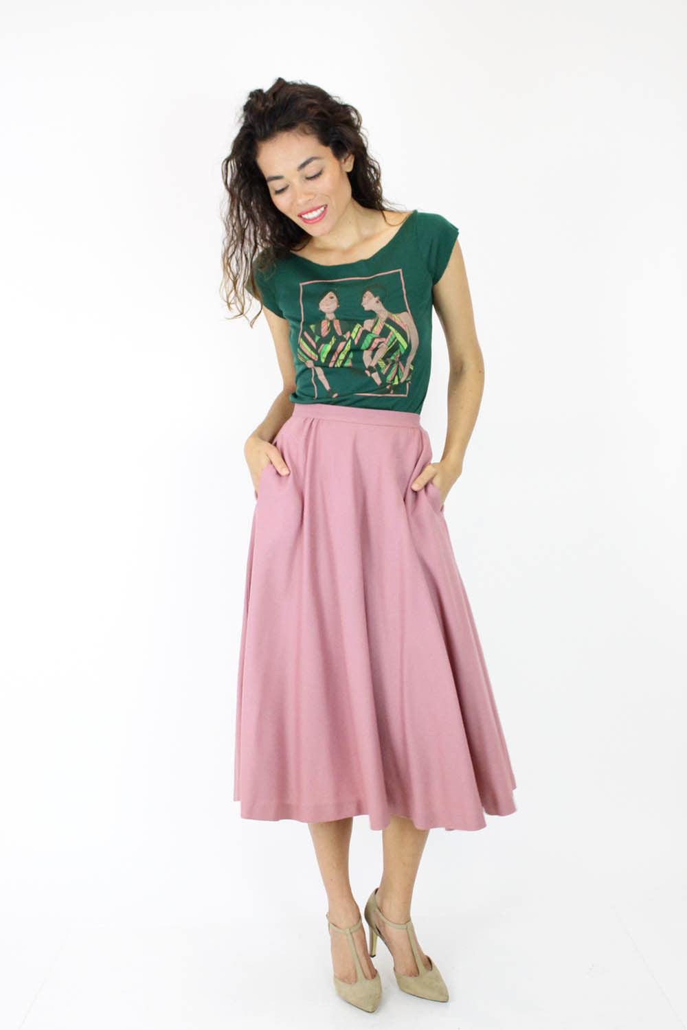 Rodier Rose Skirt XS/S