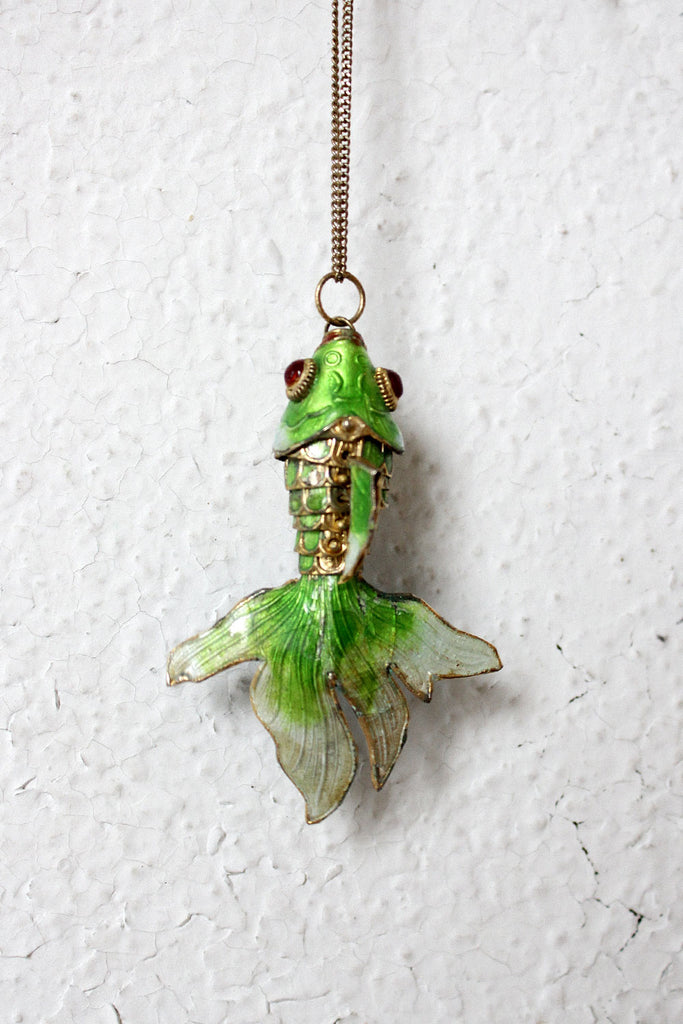 Enamel Fish Necklace