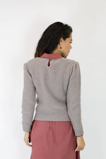 Sale / Mauve Braid Knit Sweater S/M