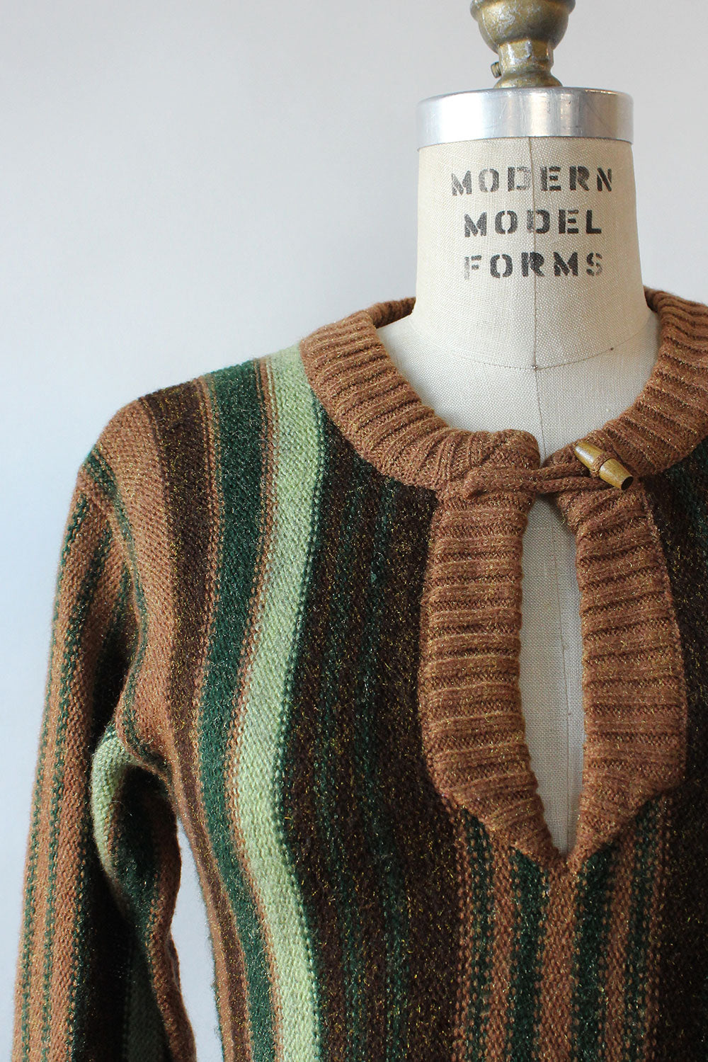 Earthtone Striped Sweater S/M