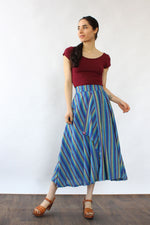 Malai Stripe Panel Skirt S/M