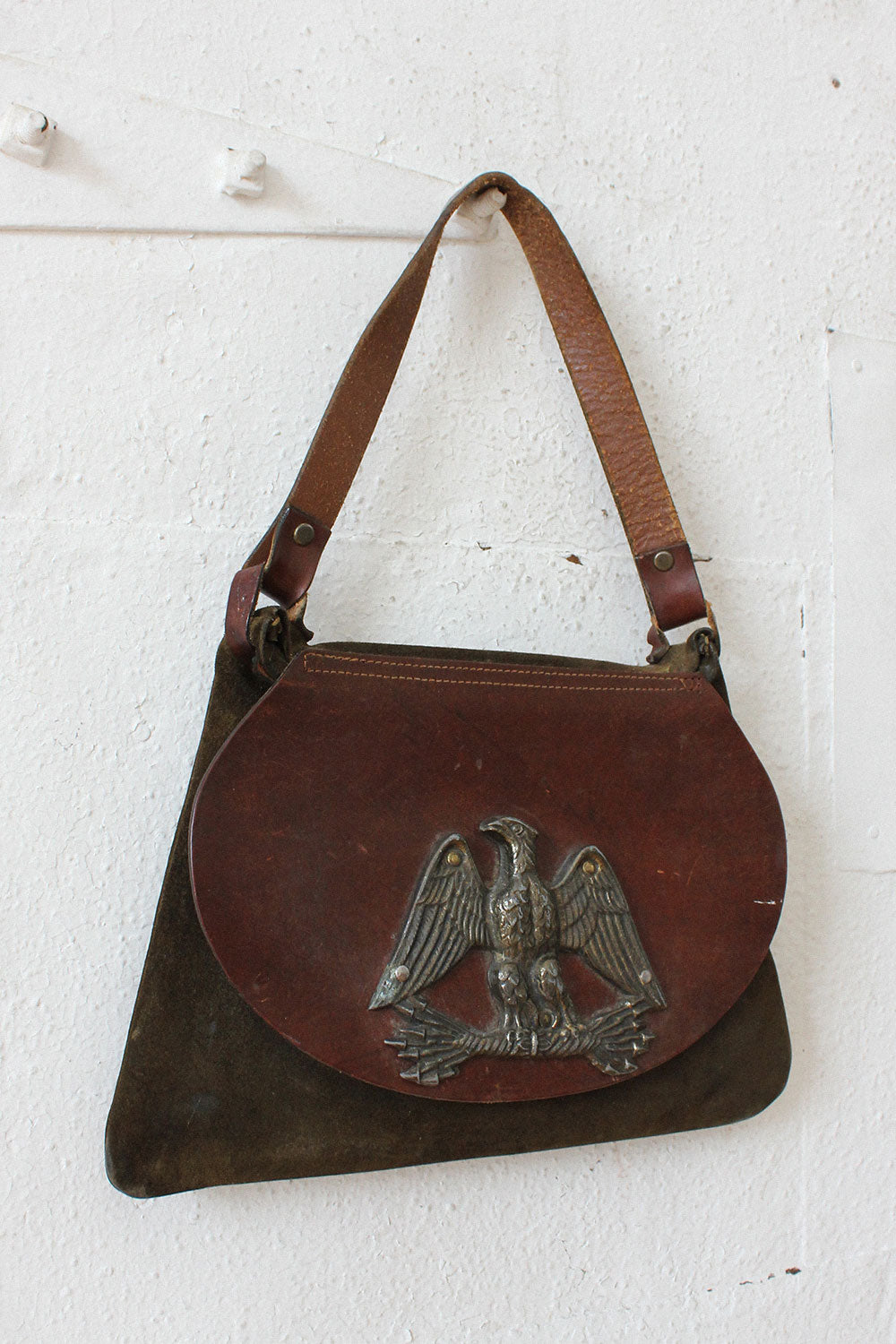 Eagle Landing Leather Purse