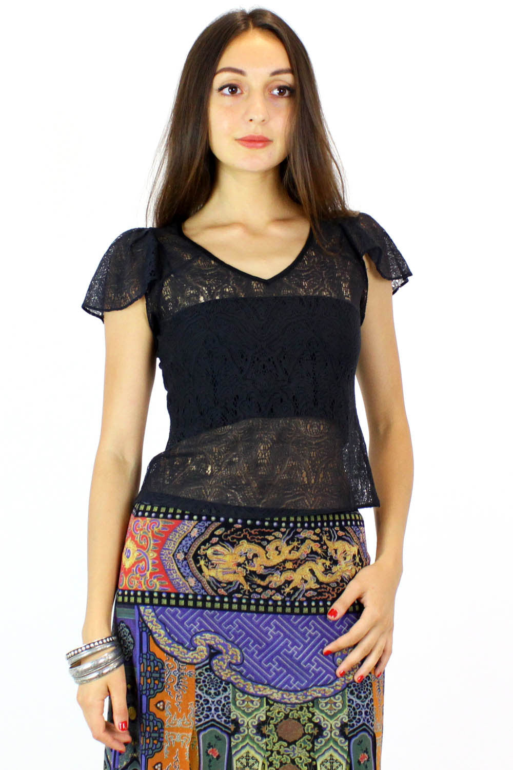 mayle lace shirt