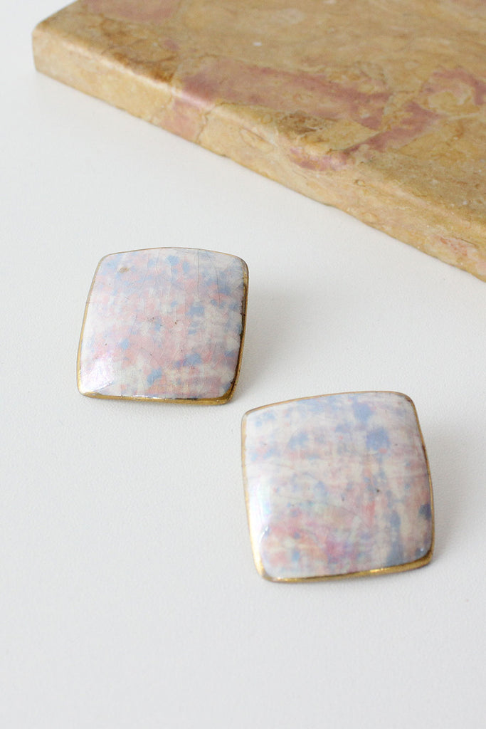 Iridescent Square Earrings