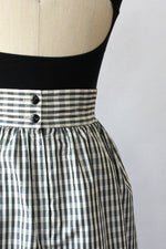 Taffeta Check Skirt M/L
