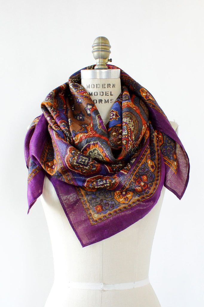 Royal Metallic Paisley Scarf
