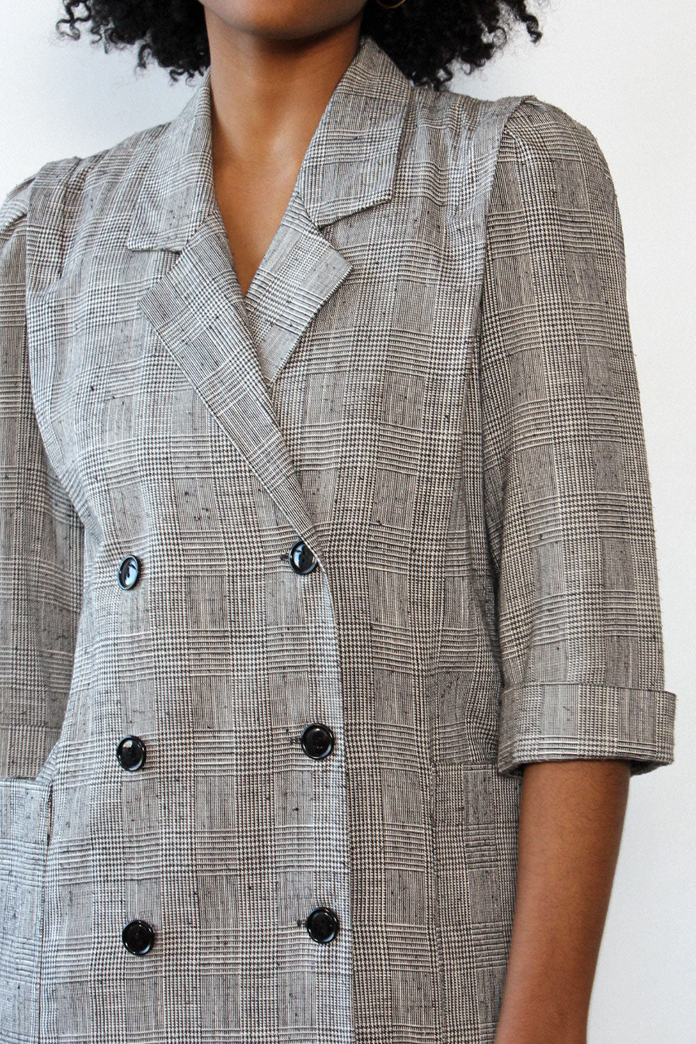 Glen Plaid Dress/Duster S/M