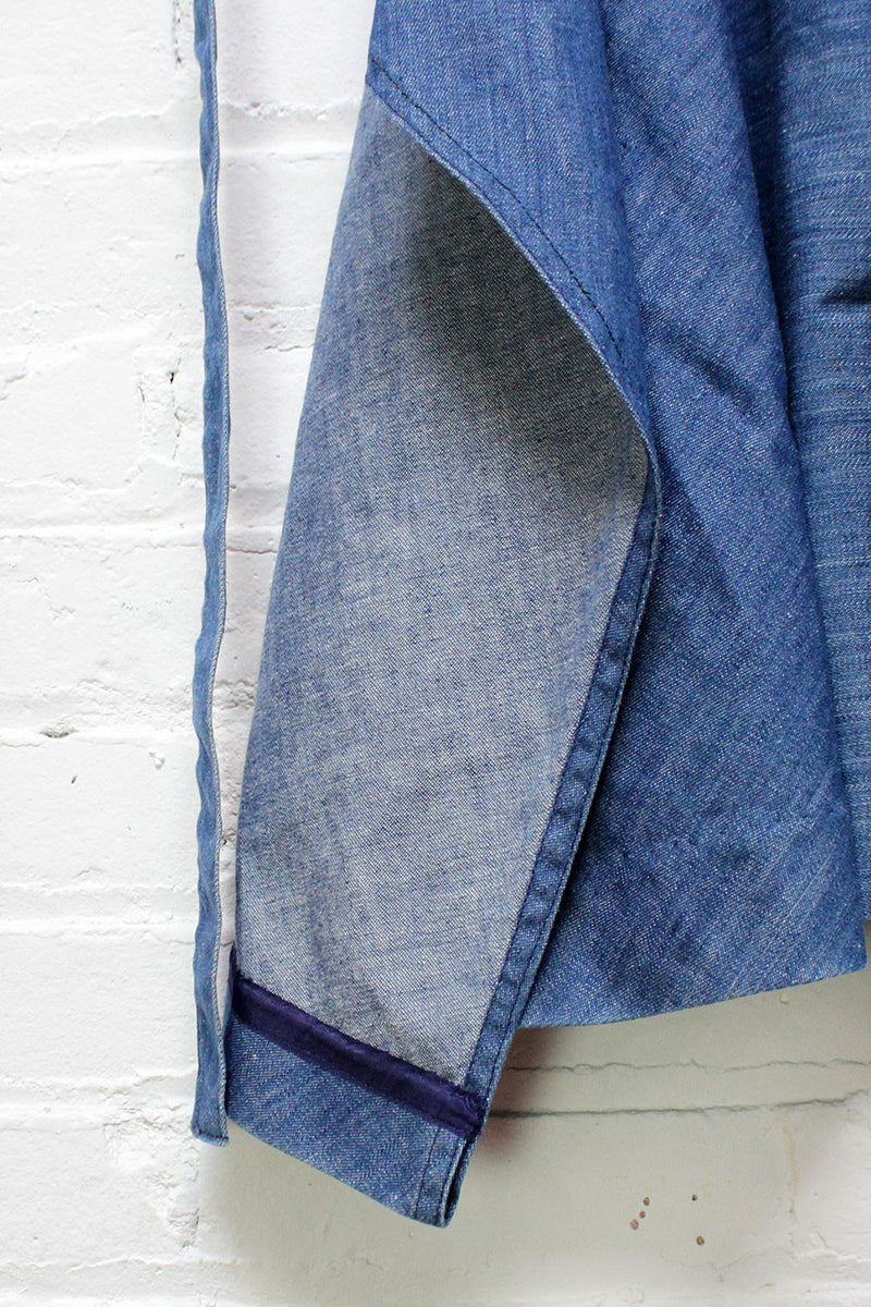 70s Denim Wrap Skirt