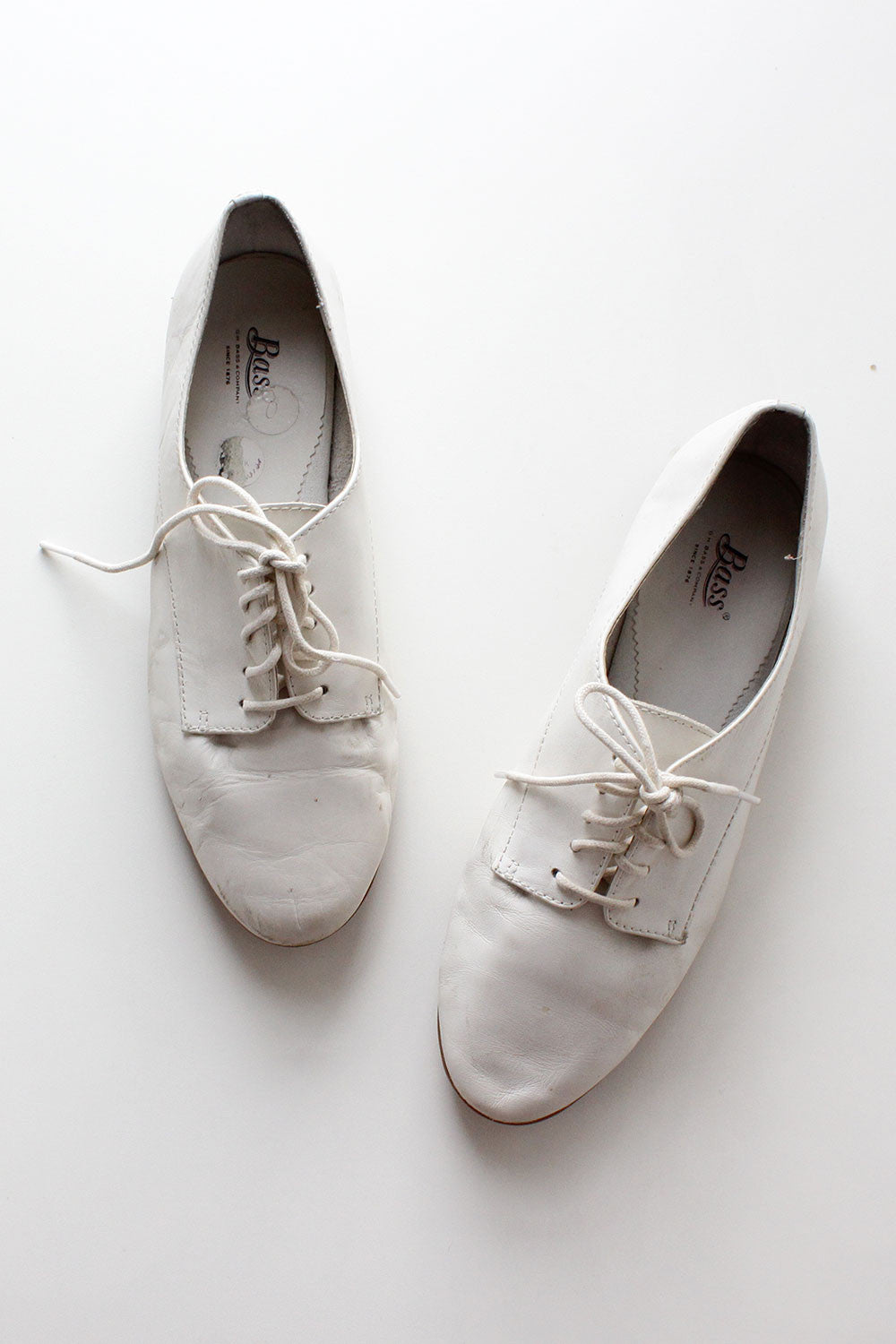 Ivory Leather Oxfords 8