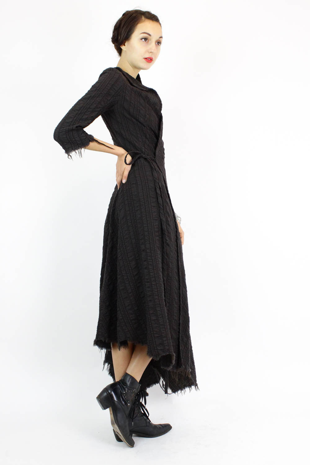 wool wrap dress