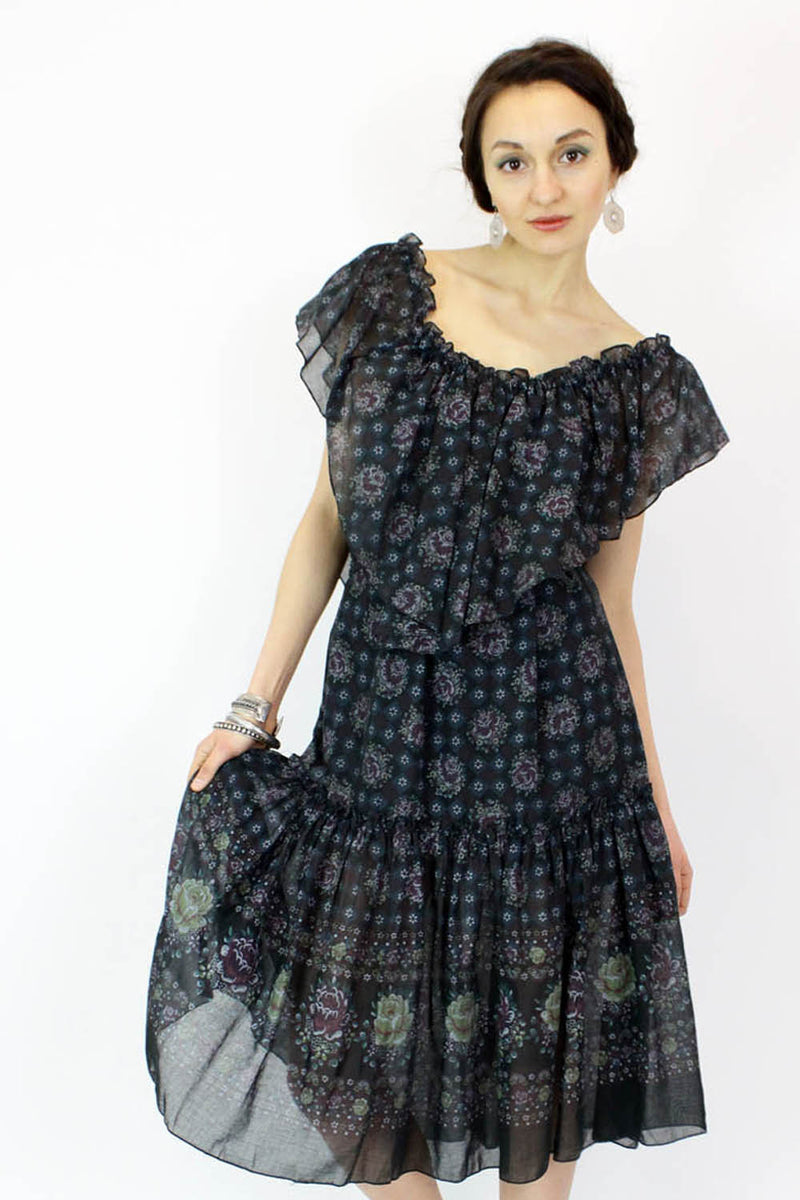 vintage ruffle dress