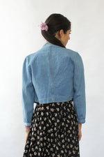 Denim Cropped Band Jacket XS/S