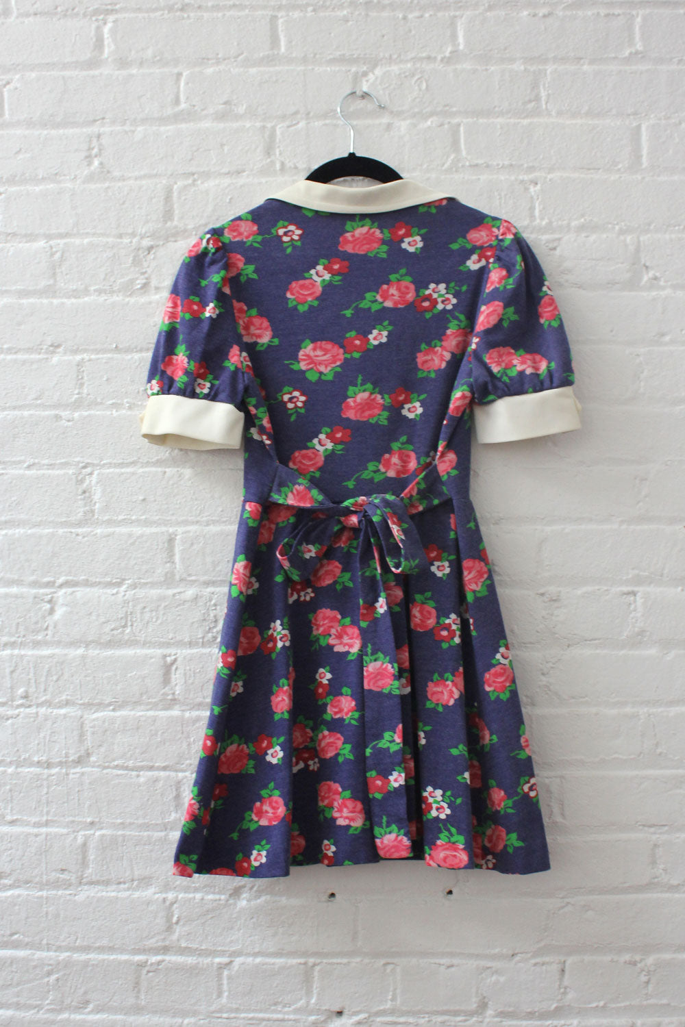 Collared Floral Micro-mini Dress XS/S